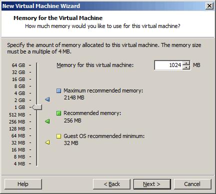 设置虚拟机的内存(RAM)